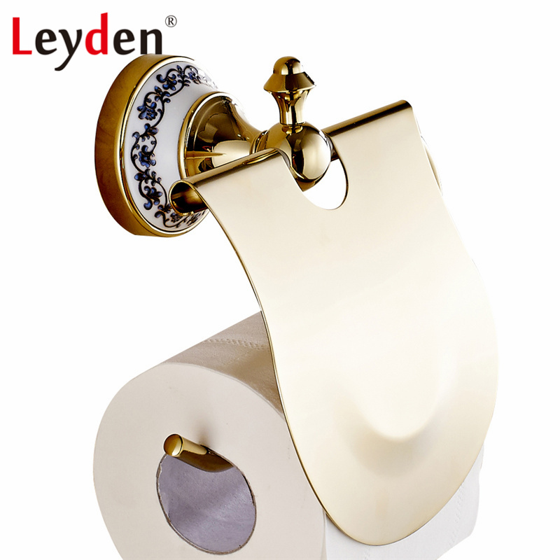 Leyden ORB/ Gold Toilet Paper Holder Brass Wall Mounted Oil Rubbed Bronze Tissue Toilet Paper Roll Holder Bathroom Accessories flg modern bathroom accessories oil rubbed bronze surface brass toilet paper holder paper box wall mounted g507