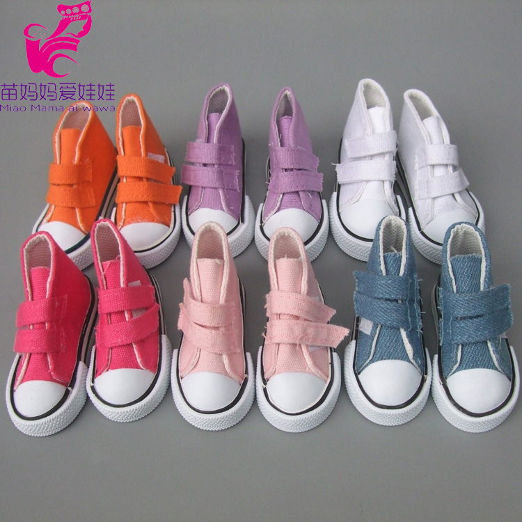 7.5cm Doll Shoes Denim Canvas Mini Toy Shoes 1/4 BJD For Russian Decoration Handmade Doll Sneackers Shoes For Sharon Doll