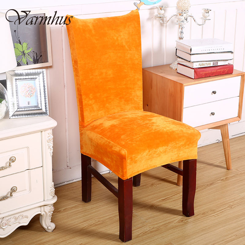 Fantastic Us 9 99 Varmhus Colorful Elastic Fox Pile Fabric Dining Chair Cover Hotel Chair Covers For Restaurant Home Decoration Chair Covers In Chair Cover Creativecarmelina Interior Chair Design Creativecarmelinacom