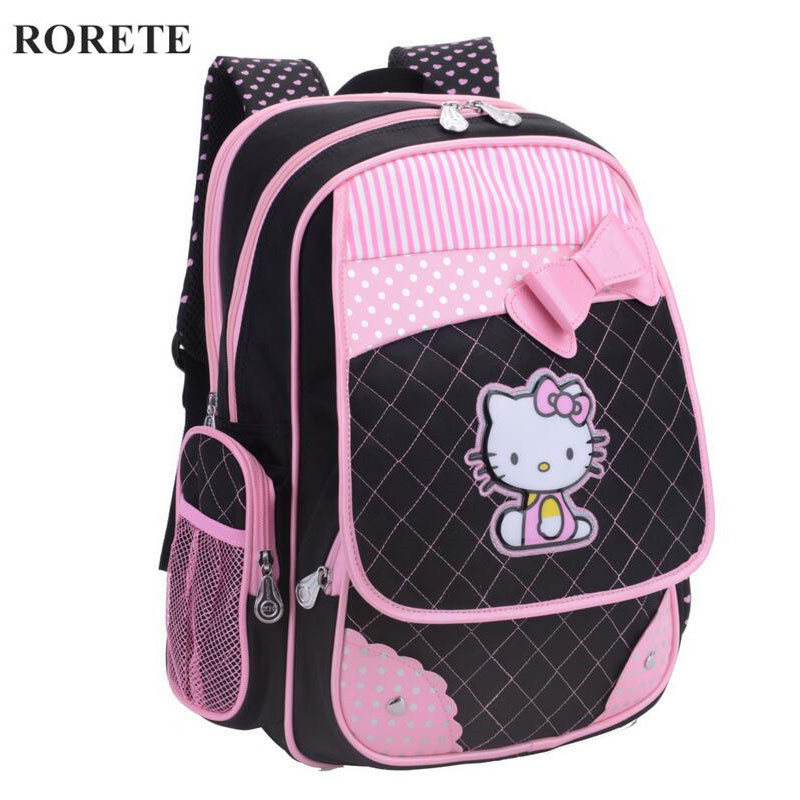 Hello Kitty School Backpacks for Girls Kids Satchel Children School Bags  Cute Orthopedic Backpack Mochila Escolar Rucksack-in School Bags from  Luggage ... 1cef347776fa5