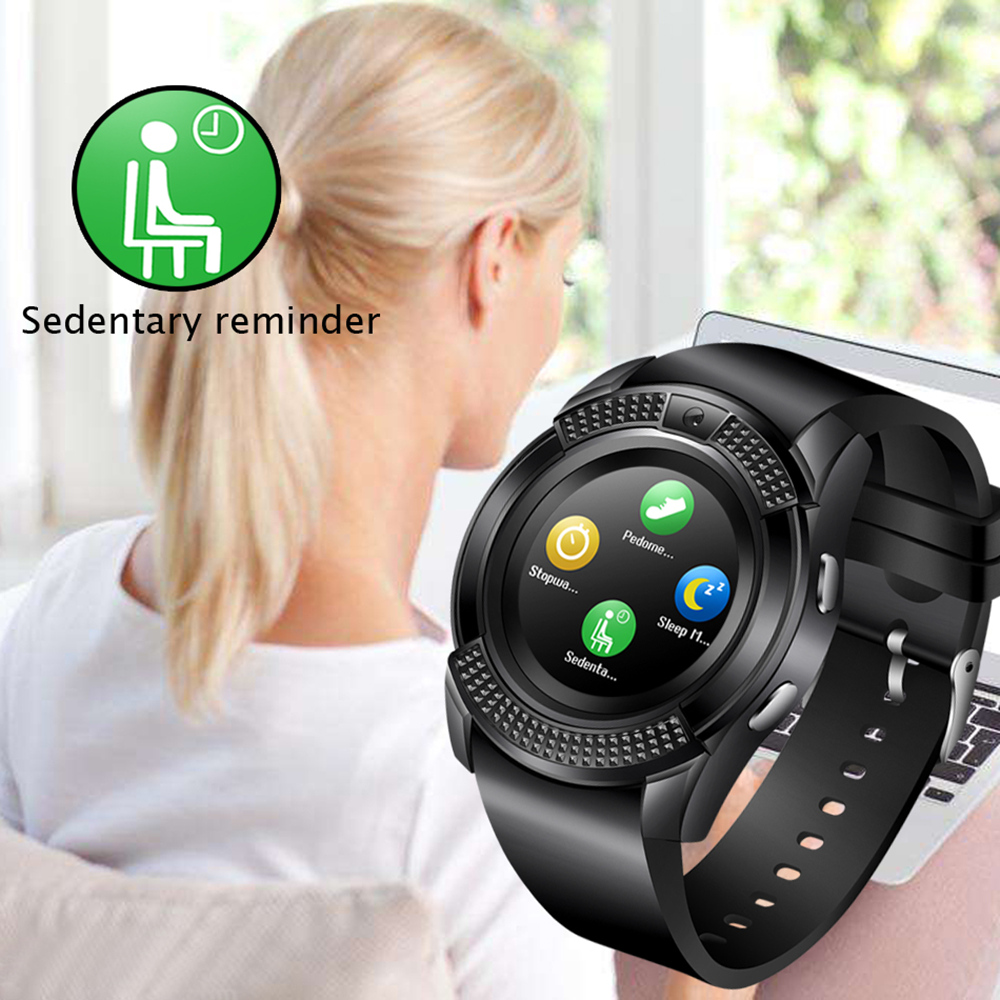 V8 SmartWatch Bluetooth Smartwatch Touch Screen Wrist Watch with Camera/SIM Card Slot, Waterproof Smart Watch DZ09 X6 VS M2 A1 7