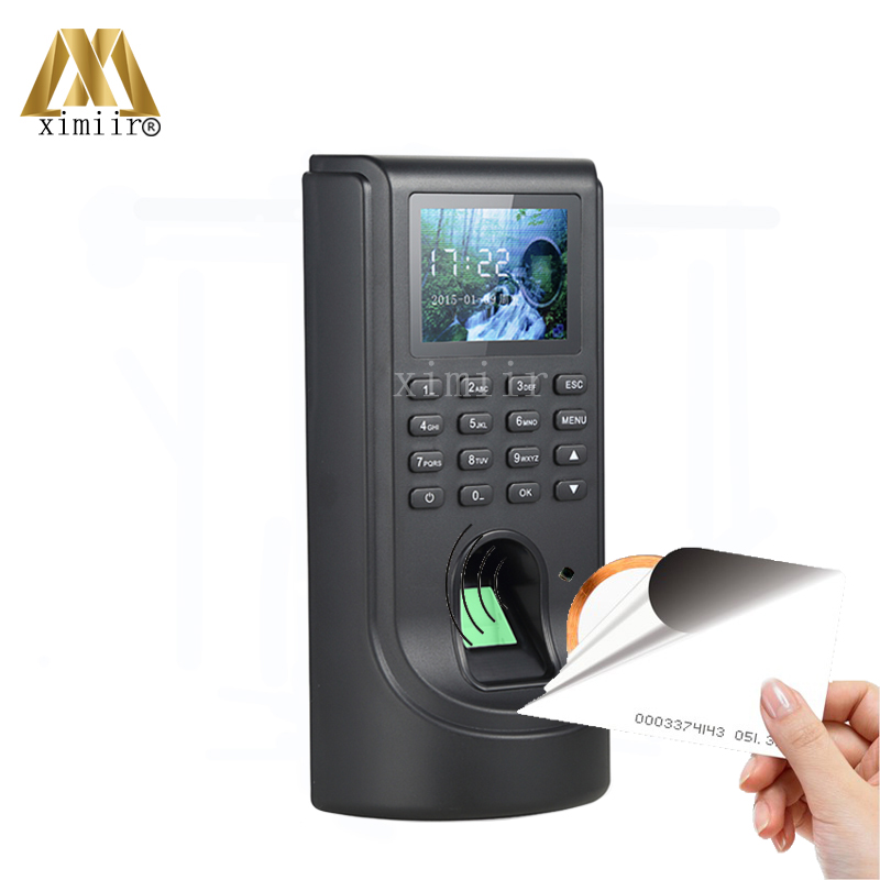TCP/IP Biometric Fingerprint Access Control TFT Color Screen Fingerprint Time Attendance And Access Control With ID Card Reader good quality tcp ip communication free software zk multibio700 facial time attendance and access control with fingerprint reader