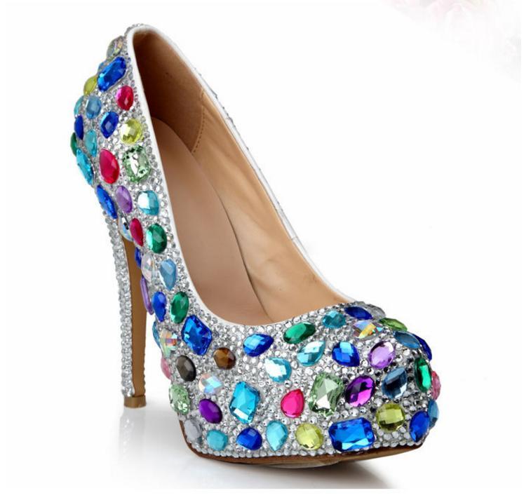 Mariage Imperméable Vitraux Chaussures Couleur Mariée Élégant Plate Multi forme 2018 Ultra Haut De Fille Diamant haute Gamme Talons Été Zgx4HqXwn7
