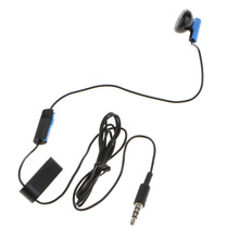 3.5mm Jack Single Earphone with Microphone Mono Earbud Earplug Earpiece for Sony PS4 1.2m/4ft