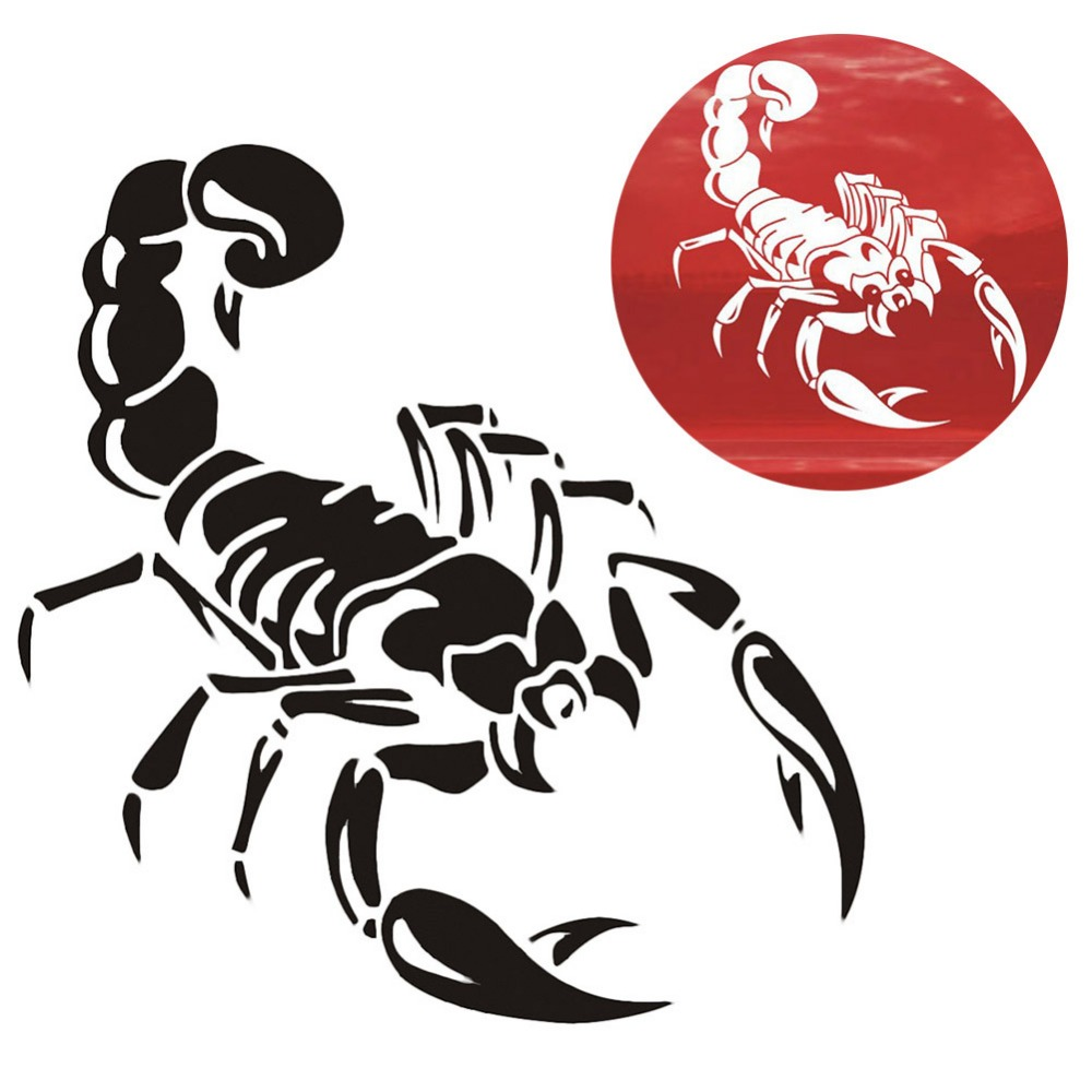 Car-styling 1 Piece 30cm Cute 3D Scorpion Car Stickers Car Styling Vinyl Decal Sticker For Cars Acessories Decoration QC29