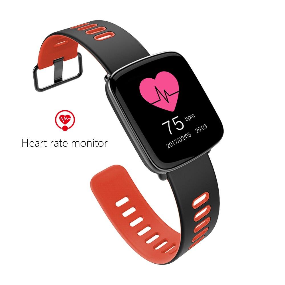 Surveillance de la fréquence cardiaque Bluetooth montre intelligente 2017 étanche IP68 montre intelligente sans carte sim CE RoHS approuvé montre cadeau