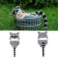 Newborn Baby Handmade Infant 0 3 Months Infant Animal Photography Props Wild Civet Cats Cute Crochet