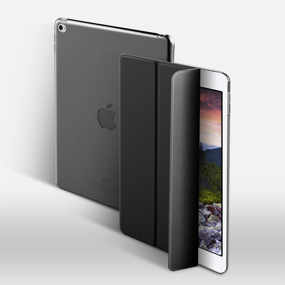 Caso para el nuevo iPad 9,7 pulgadas 2017 modelo 2018 A1822 A1823 A1893... ZVRUA YiPPee Color PU funda inteligente imán despierta dormir