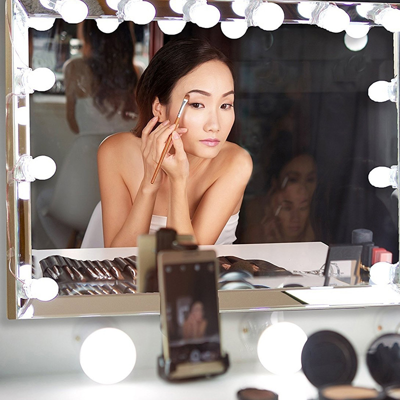 Mirror Lights Kit Dressing Room Glamour Table Set 10Bulb Makeup Light Professional Beauty LED Bulb Cosmetic Hollywood Style