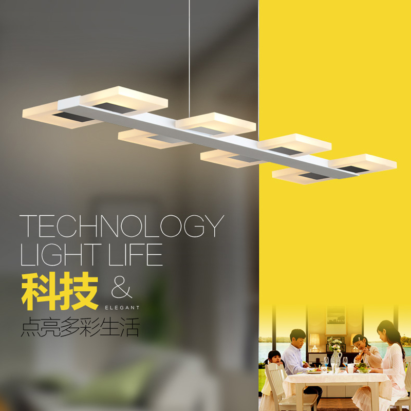 Home Modern Led Pendant Lights For Dining Room Kitchen Acrylic Suspension Hanging Ceiling Lamp Luminaire Suspendu