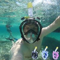 2018 Underwater Diving Mask Scuba Full Face Snorkeling mask Respiratory waterproof Swimming Snorkel training masks