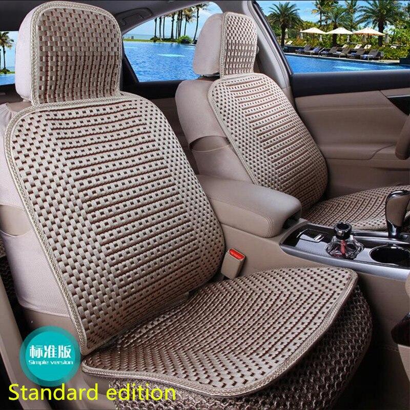 La almohadilla de cojín de coche de tamaño universal se adapta a la mayoría de autos solo cojín para asiento frío de verano cuatro estaciones en general cubierta de asiento de coche - 3