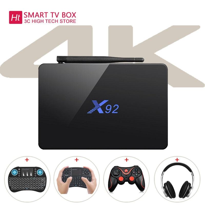 All'estero Magazzino X92 WiFi Amlogic S912 Octa-core TV Box Cortex-A53 Visualizzazione in tempo Reale Online TV HD 2.0a connettività Media