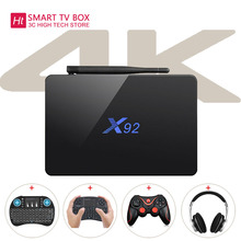 Overseas Warehouse X92 WiFi Amlogic S912 Octa-core TV Box Cortex-A53 Real-time Display TV Online HD 2.0a Connectivity Media