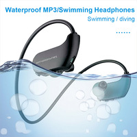 New Hot IPX8 Waterproof Wearable MP3 Player MP3 Earphones for Running Swimming NV99