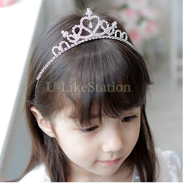 1 PC Girl's Head Accessories hairband Princess Queen Rhinestone Tiara Hair Band Headband Kids Elastic Flower Crown Headwear philips hr1863 00 viva collection