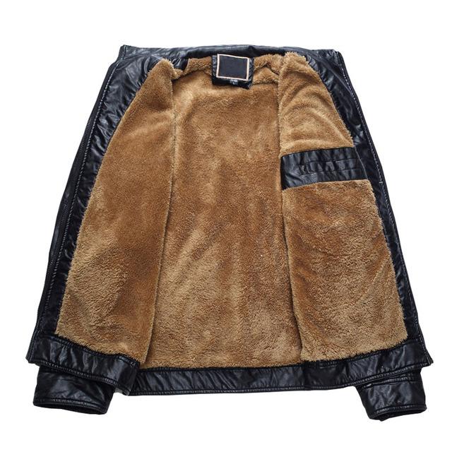 WEBONTINAL Brand PU Faux Casual Man Jackets Men Leather Jacket Male Coats Winter Warm Velvet Hombre Veste Motorcycle Outerwear