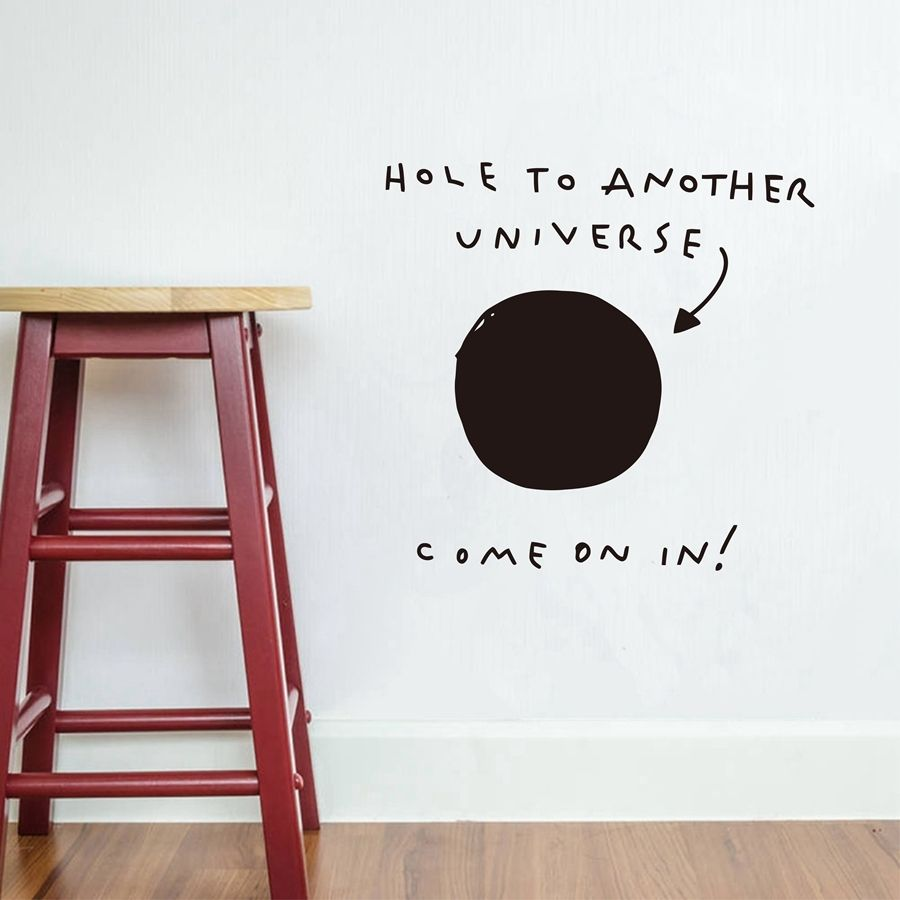 Funny Words Wall Decor Hole To Another Universe Vinyl Wall Sticker Home Decorate Living Room
