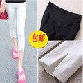 2016 летняя одежда для беременных леггинсы отрегулируйте талия безопасности пятый брюки для беременных женщин высокая эластичность материнства шорты