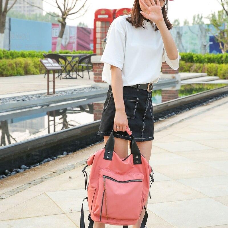 Image 5 - Fashion Women Waterproof Multifunctional Nylon Backpack Tote Shoulder BackpackBackpacks   -