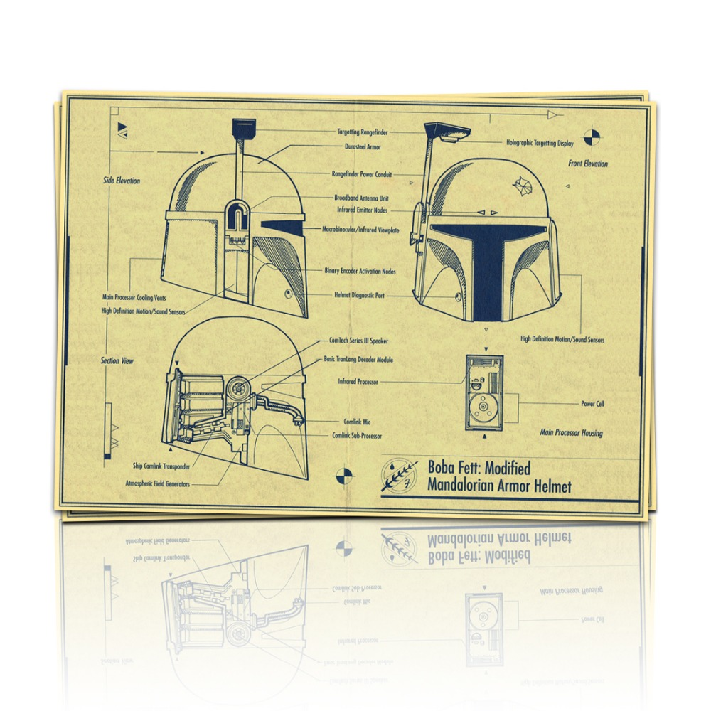 Star wars movie The blueprint art Wall home vintage poster Decoratio ...
