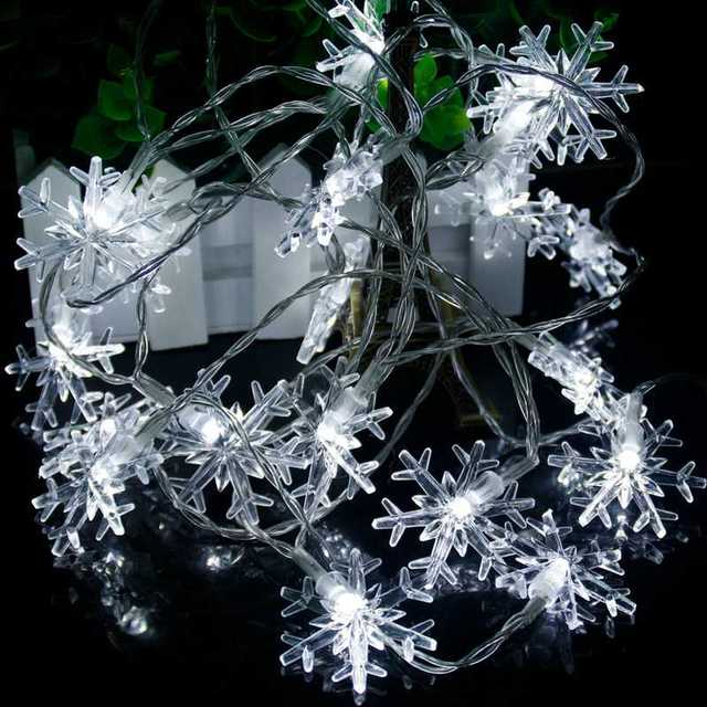 White Snowflake string lights 5c64f7bc00c6d