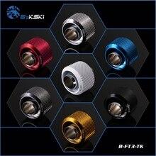 """Bykski B-FT3-TK, 3/"""" ID* 5/8"""" OD 10x16 мм Мягкая трубка фитинги, G1/"""" фитинги для мягких труб"""