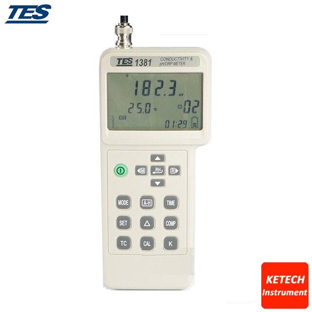 TES1381 Conductivity & PH/ORP Meter mV TDS Resistivity Salinity Concentration