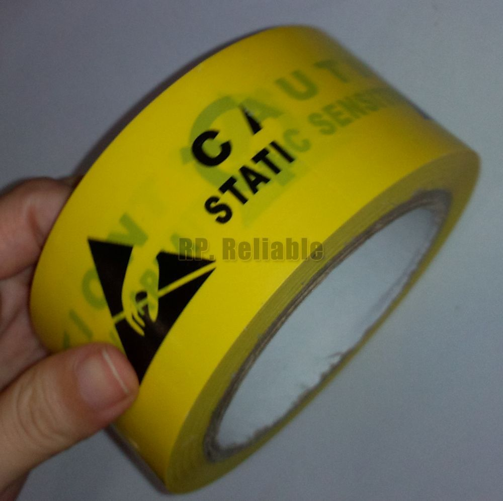 1x 48mm* 20 Meters Single Adhesive ESD Static Sensitive Working Area Caution Warning Remark Tape1x 48mm* 20 Meters Single Adhesive ESD Static Sensitive Working Area Caution Warning Remark Tape