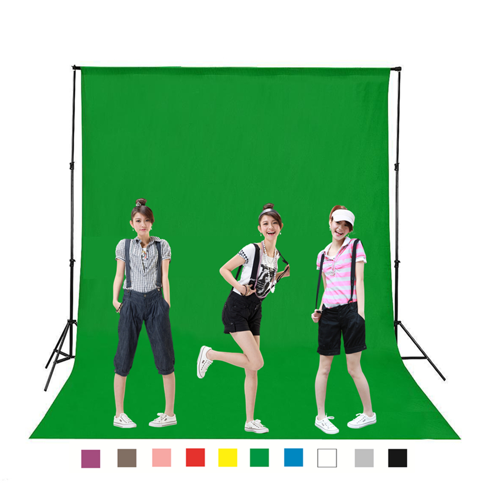 YIXIANG DIY 1M 2M 3M 4M Photography Studio Backdrop Background Screen Durable Non-woven Black White Green Gray Blue for Option