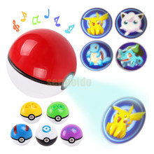 8cm LED Poke ball Figures Toys ABS Pocket Action Figure Pokeball Figure Super Master Pop-up Toy for Children Gifts DBP520(China)
