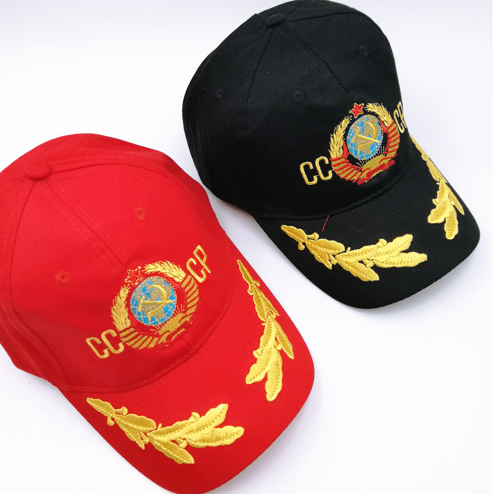 new CCCP USSR national emblem Hot Sale Style   Baseball     Cap   Unisex black Red cotton snapback   Cap   with embroidery high quality