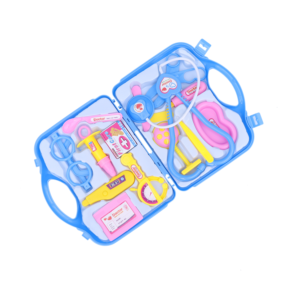 Childrens Little Doctor Toy Set Tool Kits Pretend Play Toy Role Play Toys With Suitcase For Kids Toddlers Boys Girls