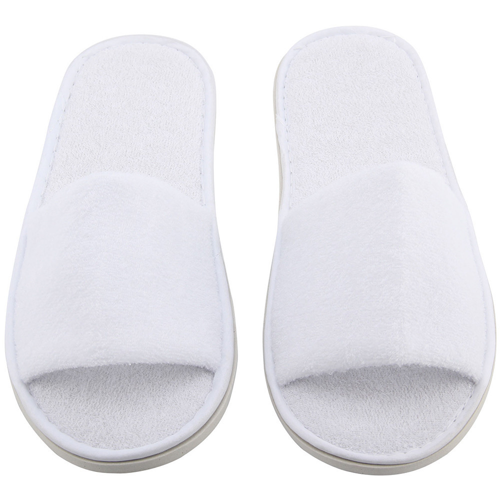 5 Pairs Spa Hotel Guest Slippers Open Toe Towelling Disposable Terry Style zapatos de mujer slippers women sapatos mulher @W2