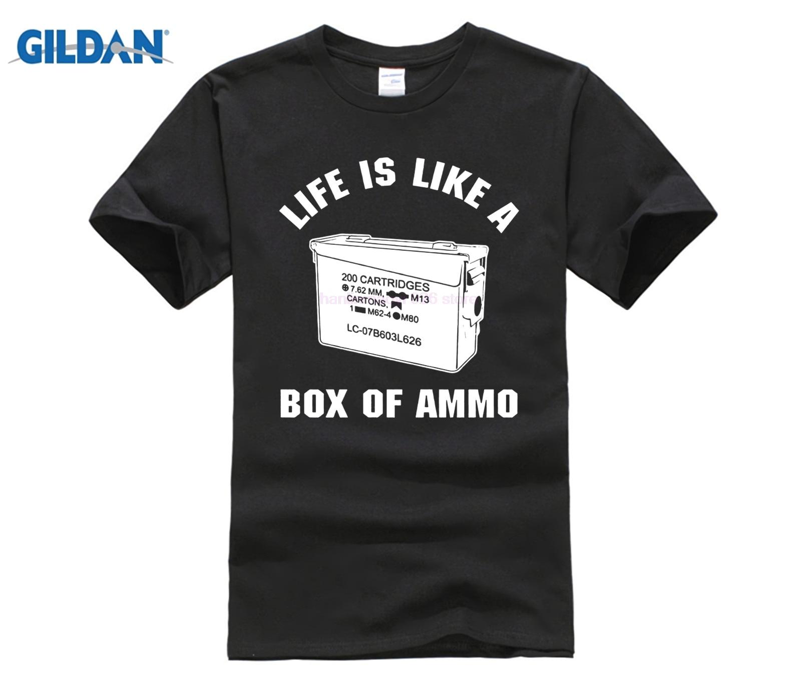100% Baumwolle Oansatz Gedruckt T-shirt Duke Nukem T Hemd Leben Ist Wie Eine Box Ammo