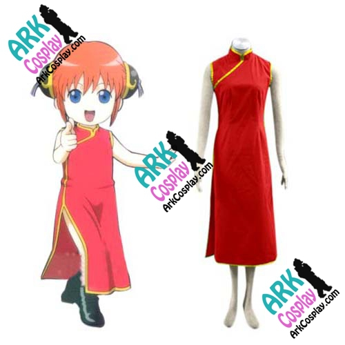 Newest Gintama Cosplay Kagura Cosplay Red Womens Gintama Cosplay Costume