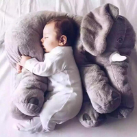 Grootste 60 cm Zuigeling Zachte Sussen Olifant Playmate Kalm Pop Baby Speelgoed Olifant Kussen Knuffels Gevulde Pop Meisje Vriend Gift