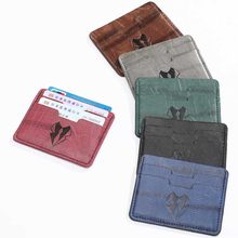 3 Bits High Quanlity PU Leather Card Case Business Card Holder Men Women Credit Passport Card Bag ID Passport Card Wallet(China)