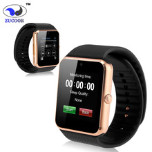 สมาร์ทนาฬิกาGT-08นาฬิกาข้อมือตรวจสอบการนอนหลับที่มีP Assometer H Eart Rate Monitorระยะไกลกล้องนาฬิกาบลูทูธHDหน้าจอ