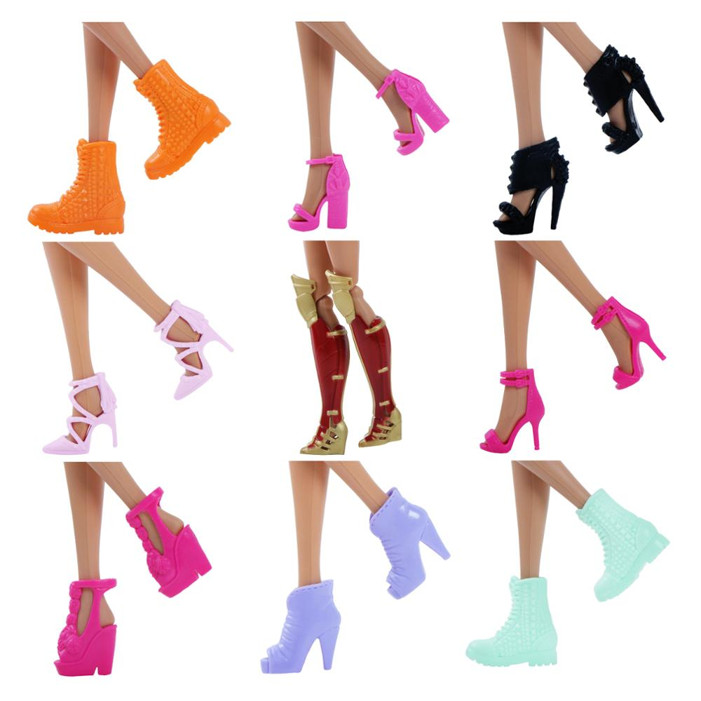 High Quality Boots Colorful Different Styles High Heels Shoes Sandals Cute DIY Clothes For Barbie Doll Accessories Toy