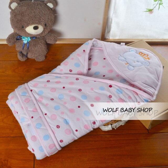 4 шт./лот 85x85 см утолщаются ребенка спальный мешок младенца Хлопка Прием Одеяла обернуть 0-2 лет ребенок зима весна осень