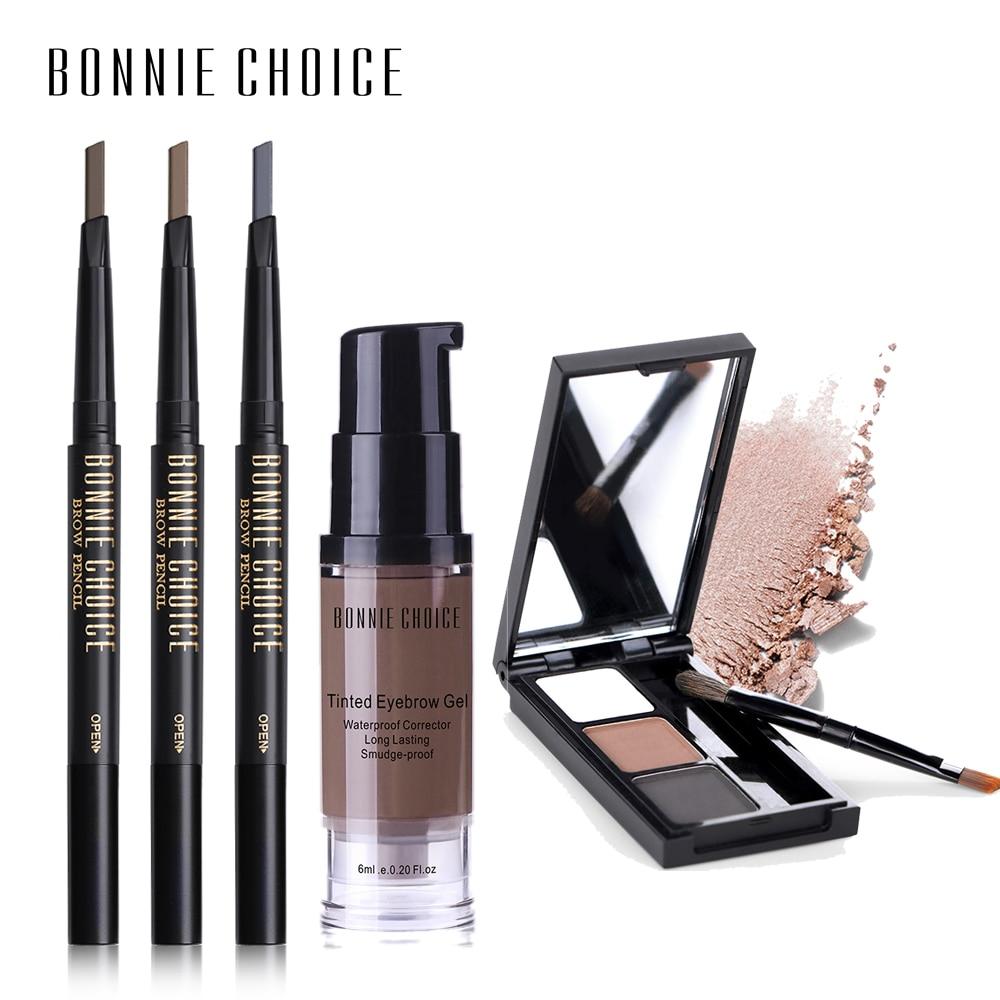 BONNIE CHOICE Eyebrow Pencil Tatoo Eye Brow Gel Henna Waterproof Long-Lasting Eyebrow Powder Automatic Tint Cosmetics