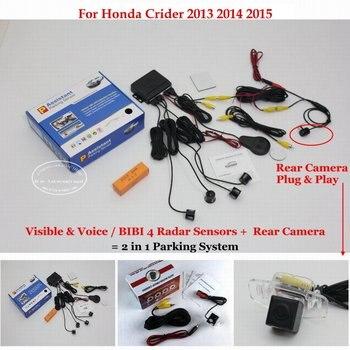 Car Sensors Sensor Reverse Rearview Camera Auto Alarm Parking System For Honda Crider 2013 2014 2015