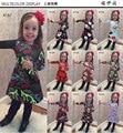 2016 otoño nuevas niñas vestidos de Navidad vestidos de niña ropa De Navidad