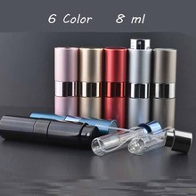 Hot Selling 8ml Refillable Portable Mini perfume bottle &Traveler Aluminum Spray Atomizer Empty Parfum bottle