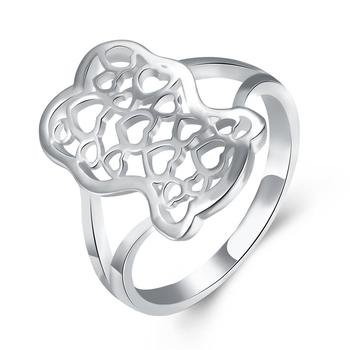 INALIS Classic Art Hollow Heart to Heart Women's Rings Top Quality For Women Silver Plated Rings Jewelry Gift