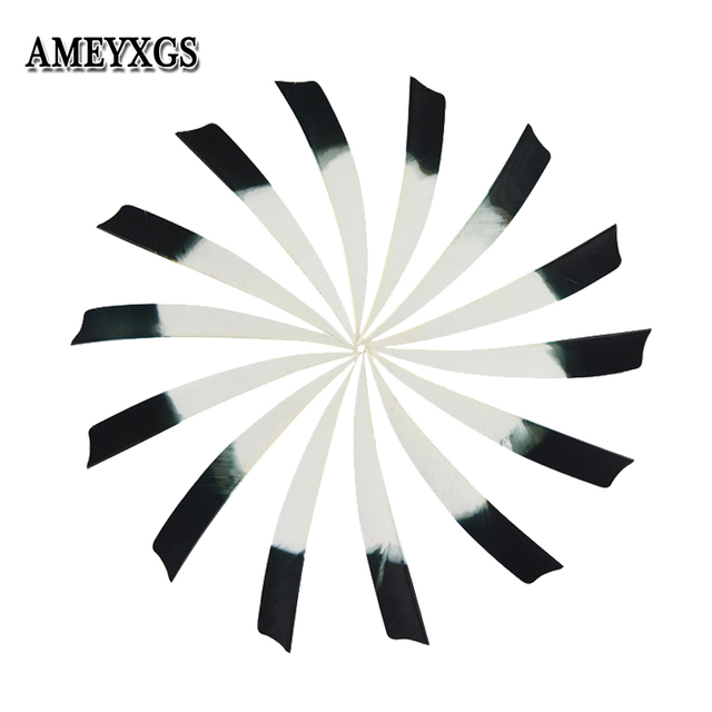 """50/100pcs 5""""Archery Arrow Feathers Right Wing Turkey Feather Practicing Sports Shooting Hunting Bow And Arrow Accessories"""