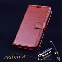Xiaomi Redmi 4 Case Cover Basiness Luxury Flip Leather Case For Xiaomi Redmi 4 Standard 5