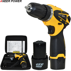 1.5Ah Battery Capacity Drill 12v Mini Cordless Drill Power Tools Electric Screwdriver Electric Drill Batteries Screwdriver