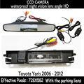 """Wiireless Monitor LCD carro 4.3 """" cor L Monitor retrovisor do carro de Backup câmera para carro câmera de visão traseira para Toyota Yaris 2006 - 2012"""